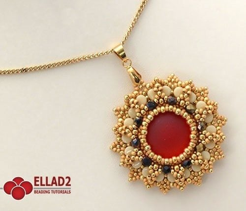 Beading-Tutorial-Anice Pendant-with-Pellet-beads-by-Ellad2