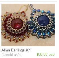 Alma-Earrings Bead-Kits--CzechLaVie-Ellad2