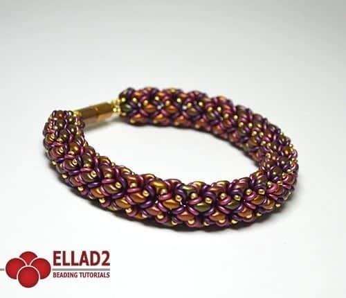 Duoletta Bracelet -Ellad2 Beading Pattern