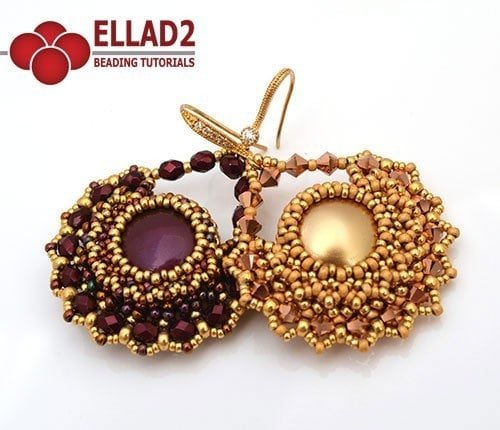 Beading Tutorial Earrings with coin bead by Ellad2