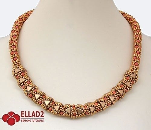 Beading pattern Adaliz Necklace with Kheops beads by Ellad2