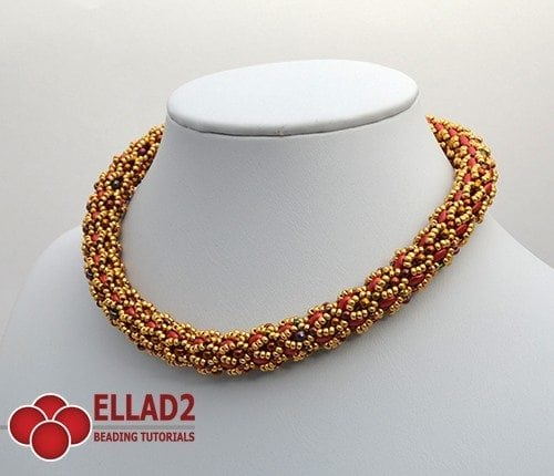 Infinity Necklace -Ellad2 Beading Pattern