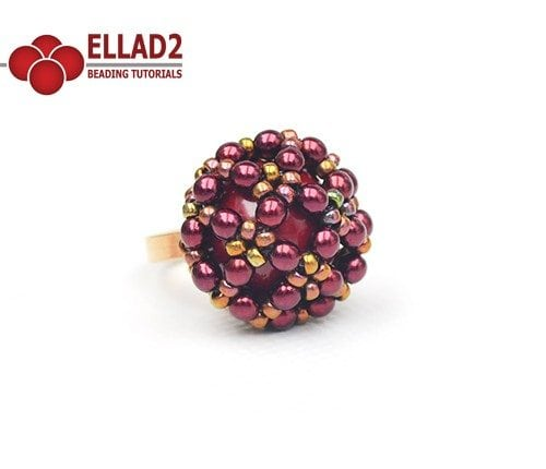 Ring beading tutorial Dome by Ellad2
