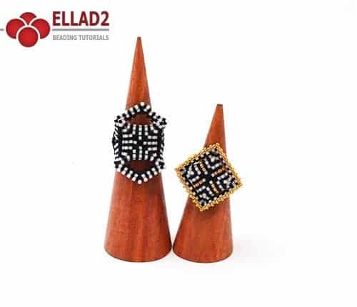 Cubico Rings-Beading Patterns and Tutorials by Ellad2