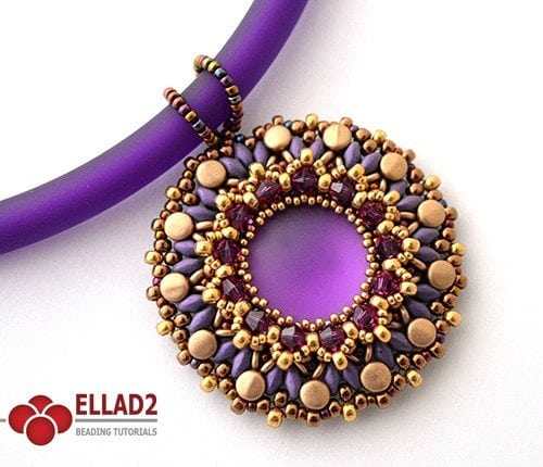 heva pendant Beading Tutorials and Patterns by Ellad2