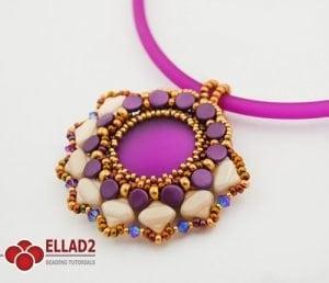 drina pendant Beading tutorials by Ellad2