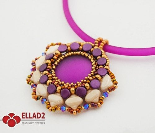 drina pendant Beading tutorials by Ellad2