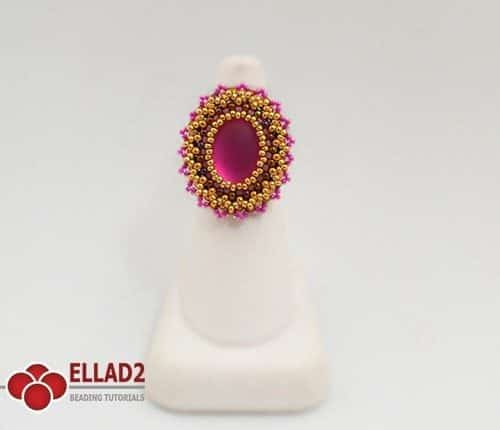 Beading tutorial Occoro Ring by Ellad2