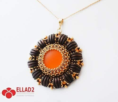 Beading Tutoria with Crescent beads Lulu Pendant-by-Ellad2