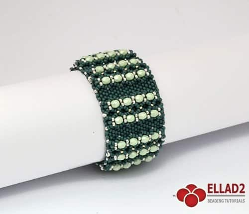 Beading-Pattern-Laureta-Bracelet-by-Ellad2-in-odd-count-peyote-stitch