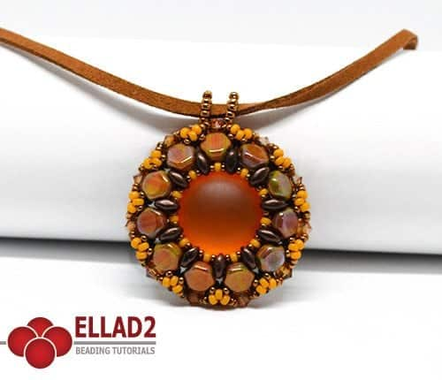 Beading Tutorial Lola Pendant by Ellad2