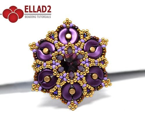 Beading Tutorial Kaya Pendant by Ellad2