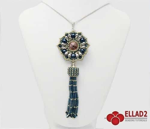 Beading Tutorial Anika Pendant with Zoliduo beads by Ellad2