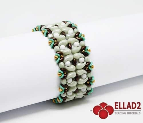 Beading Tutorial Moli Bracelet with Zoliduo beads by Ellad2