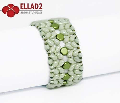 Beading Tutorial Zoli Bracelet with Zoliduo beads by Ellad2