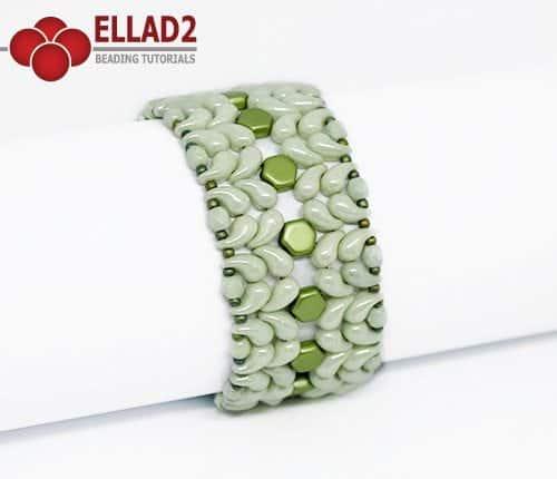 Beading Tutorial Zoli Bracelet with Zoliduo beads by Ellad2