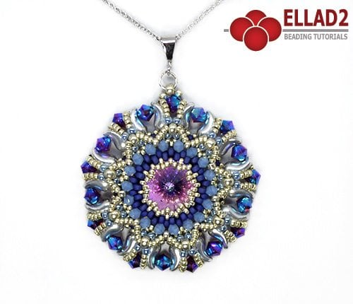 Beading Pattern Kalinda Pendant design by Ellad2