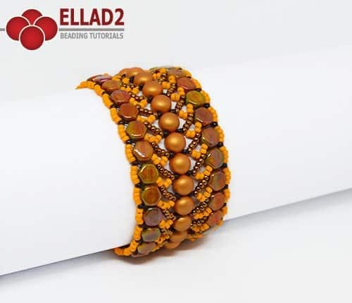 Beading tutorial Nebula Bracelet by Ellad2