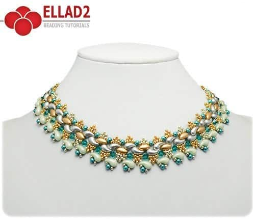 Beading Tutorial Kani necklace with zoliduo and irisduo beads