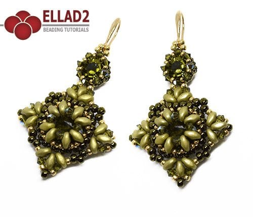Beading Tutorial Priya Earrings by Ellad2