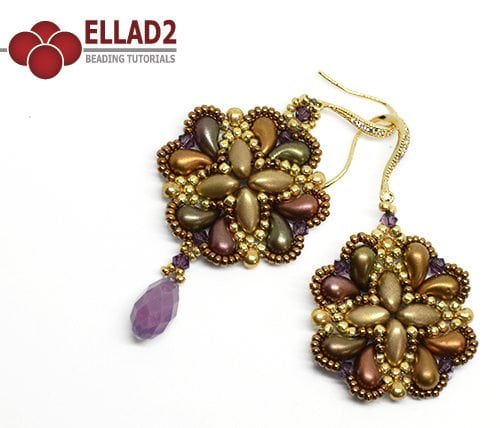 Beading Tutorial Hanna Earrings with Zoliduo beads by Ellad2