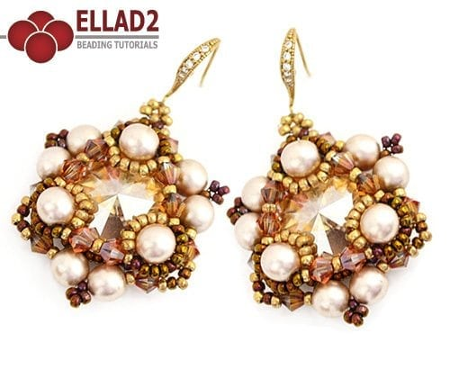 Beading Tutorial Bermuda Earrings by Ellad2