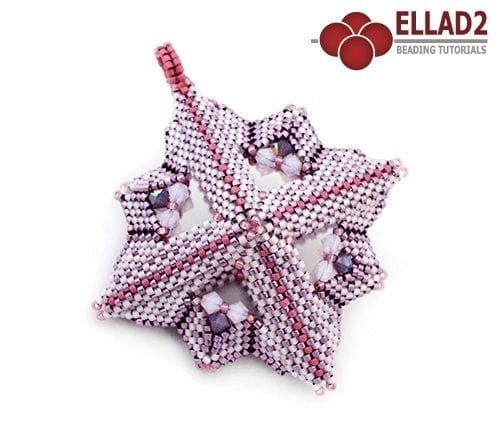 Beading Tutorial Criss Cross Pendant by Ellad2