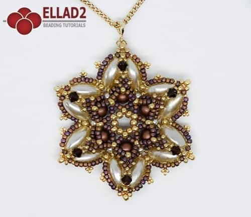 Beading Tutorial Lala Pendant by Ellad2