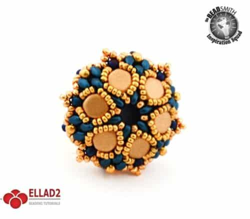 Honeycomb flower ring beading Tutorial by Ellad2