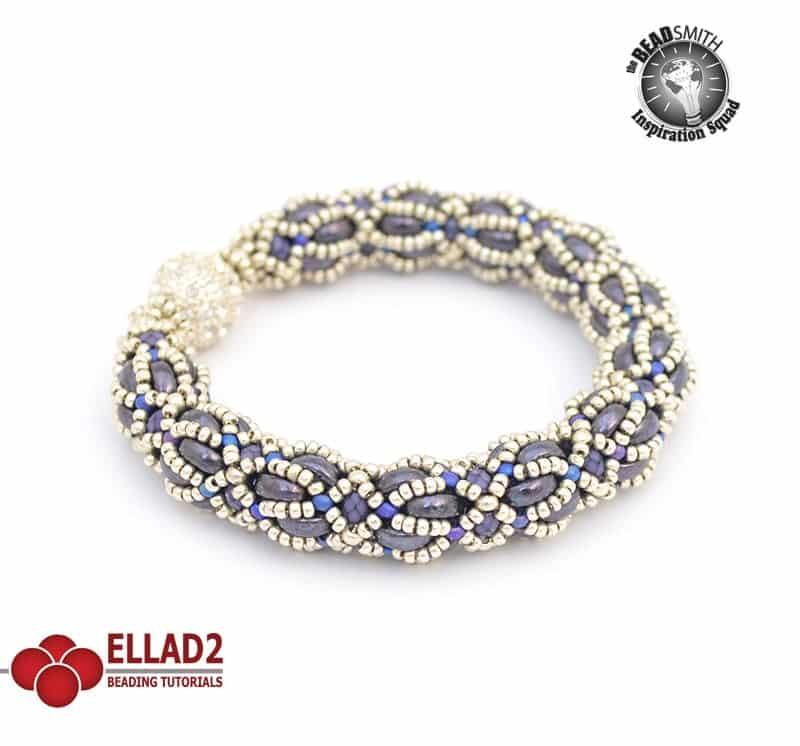 Media Luna Bracelet Beading tutorial by Ellad2