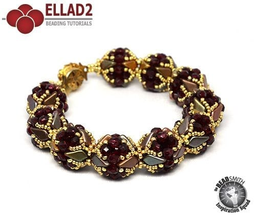 Kite Bracelet Beading Tutorial by Ellad2