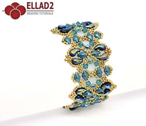 Beading Tutorial Alaska Bracelet by Ellad2