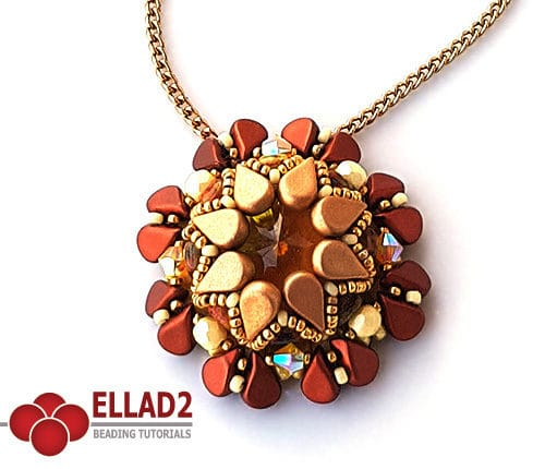 Beading Tutorial Amos Pendant by Ellad2