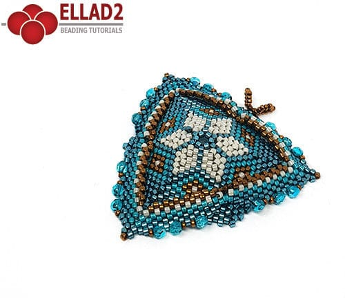 Beading tutorial Trillium Triangle Ellad2
