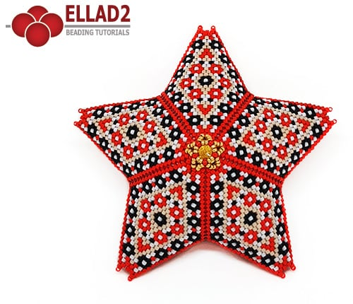 Beading Tutorial Blossom Star by Ellad2