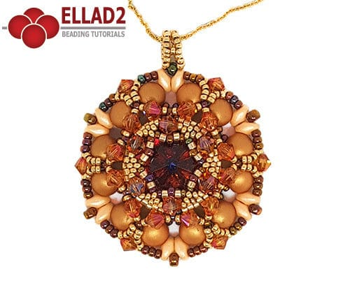 Beading Tutorial Arwen Pendant by Ellad2