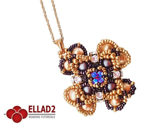 Beading Tutorial Iridescent Pendant by Ellad2