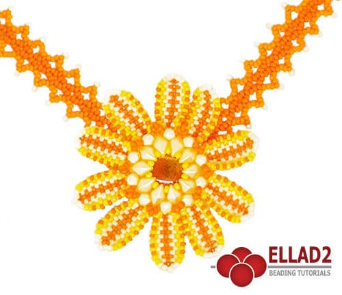 Beading Tutorial Tithonia Flower