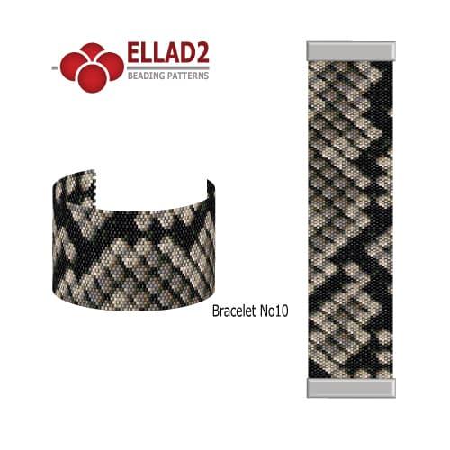 Bracelet Beading pattern in peyote stitch