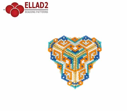 Beadwoven triangle pattern by Ellad2