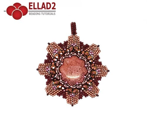 Beading Tutorial Everly Flower Pendant by Ellad2