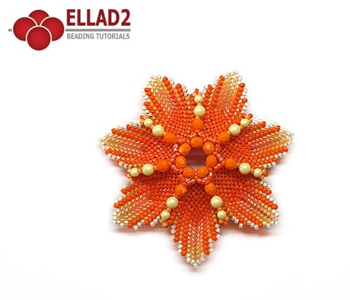 Beading Tutorial Sunset flower by Ellad2
