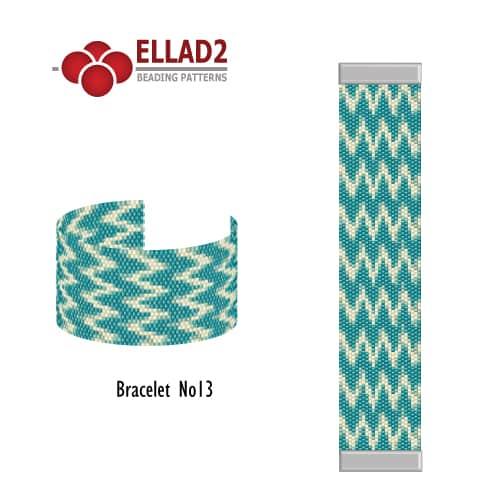 Beading pattern Bracelet Odd-peyote-stitch