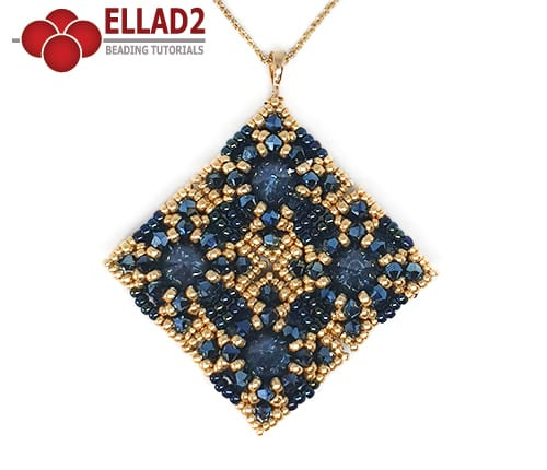 Beading Tutorial La Quadra Pendant by Ellad2