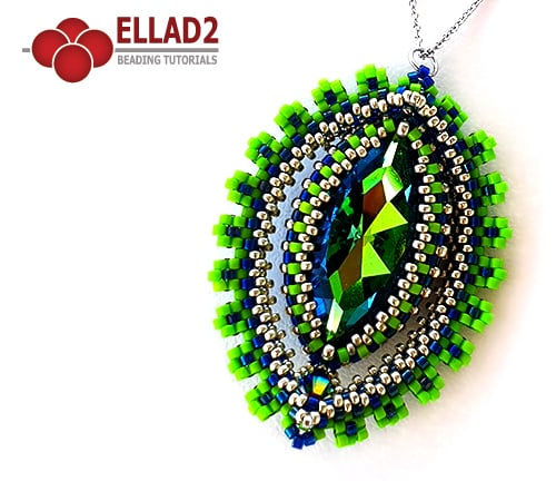 Beading Tutorial Sphinx Pendant by Ellad2