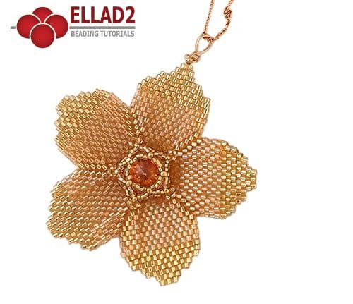 Beading Tutorial Lone Flower by Ellad2