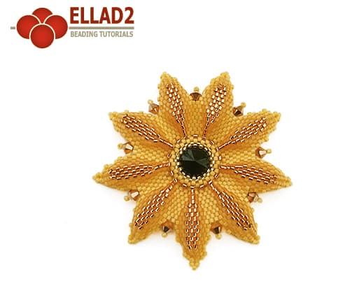 Beading tutorial Black Eyed Susan Flower by Ellad2