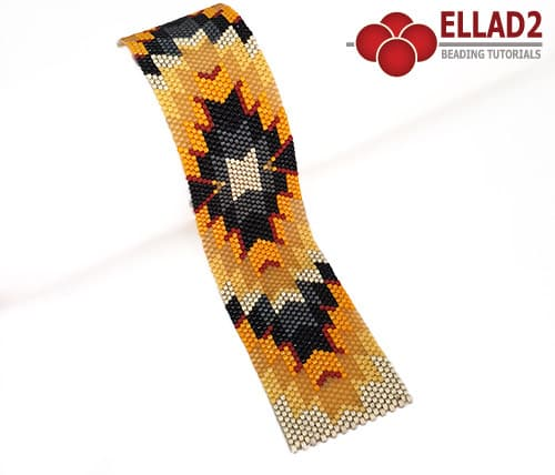 Bracelet odd peyote stitch by Ellad2