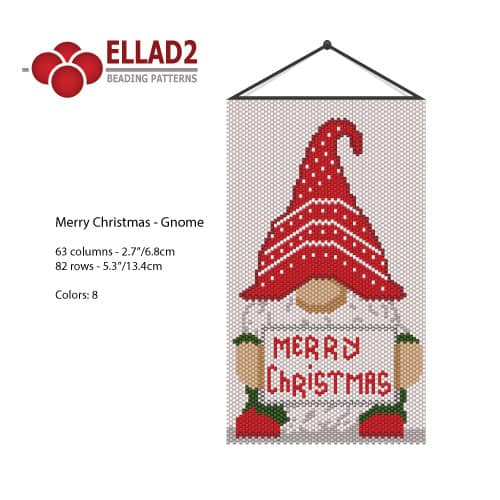 Merry Christmas Gnome beading pattern by Ellad2