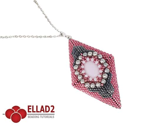 Beading Tutorial Estel Pendant by Ellad2